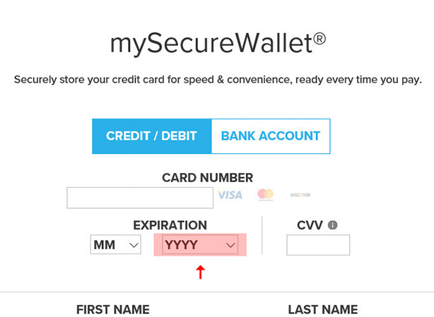 General Info - Store a Credit Card in mySecureWallet